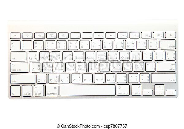 blanco, moderno, teclado - csp7807757