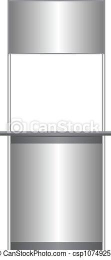 Un mostrador blanco - csp10749251