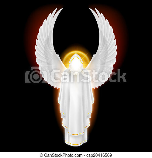 Ángel blanco en negro - csp20416569
