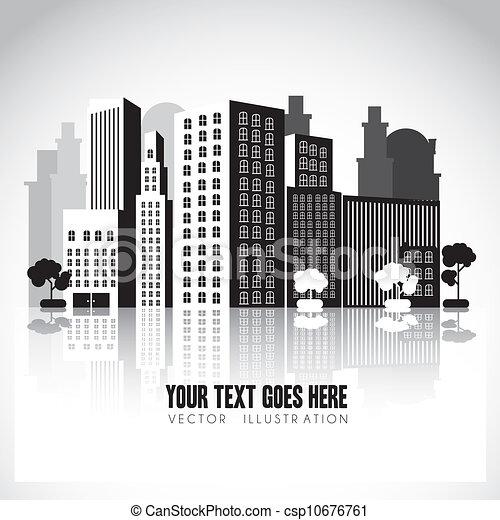 Edificios blancos y negros - csp10676761