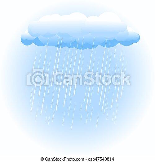 Nube de lluvia en blanco - csp47540814