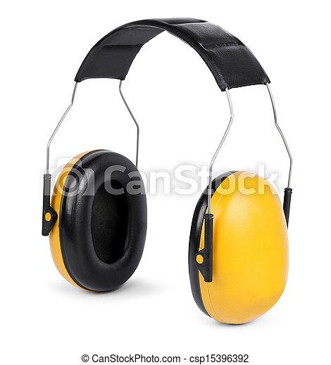Escucha protectores aislados en el fondo blanco - csp15396392