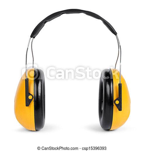 Escucha protectores aislados en el fondo blanco - csp15396393