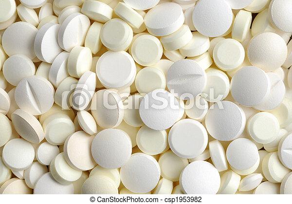 blanco, píldoras - csp1953982