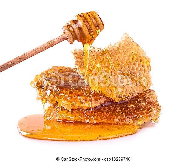 Honeycomb, aislada en el fondo blanco - csp18239740