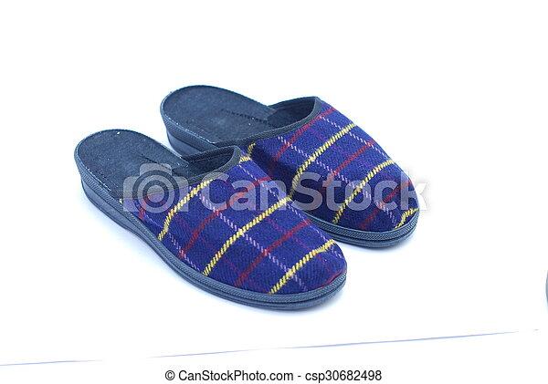 Zapatillas en un fondo blanco - csp30682498