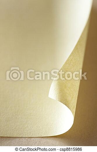 Papel en blanco - csp8815986