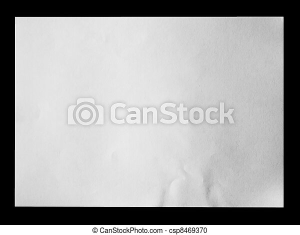 Papel blanco sobre negro - csp8469370