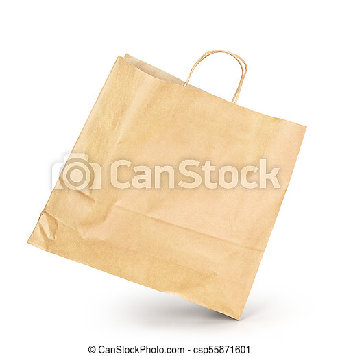 Paquete de papel aislado en un fondo blanco - csp55871601