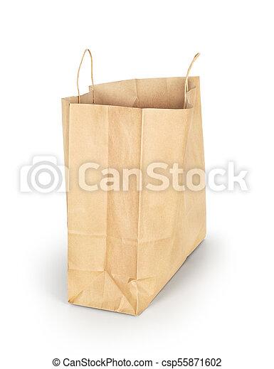 Paquete de papel aislado en un fondo blanco - csp55871602