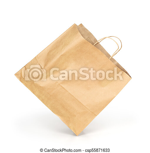 Paquete de papel aislado en un fondo blanco - csp55871633