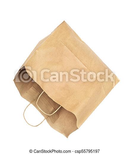 Paquete de papel aislado en un fondo blanco - csp55795197