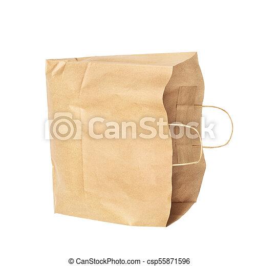 Paquete de papel aislado en un fondo blanco - csp55871596