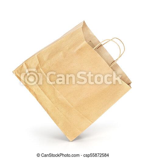 Paquete de papel aislado en un fondo blanco - csp55872584