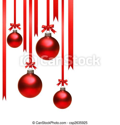 Blanco pelotas cintas navidad ahorcadura Pelotas plano