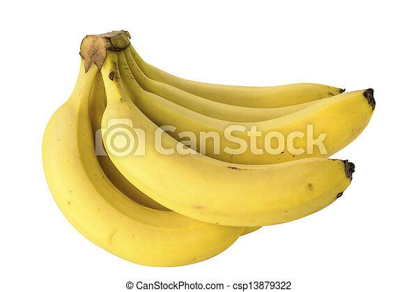Banana aislada en fondo blanco - csp13879322