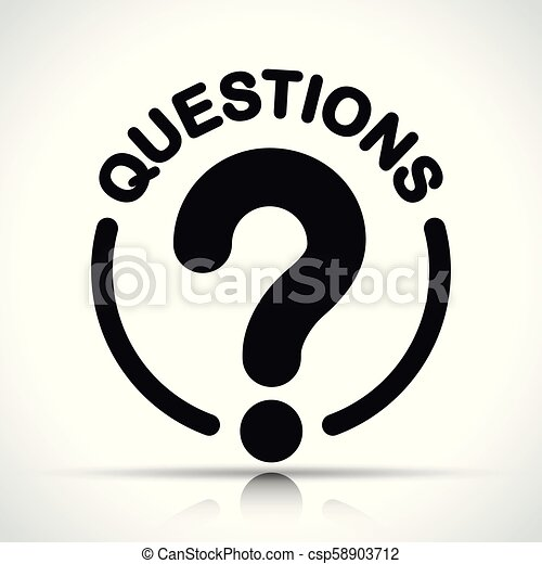 Pregunta a icono sobre fondo blanco - csp58903712