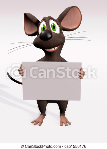 Ratón con una señal en blanco - csp1550176