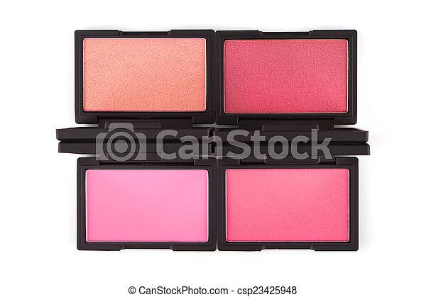Paletas coloridas aisladas en blanco - csp23425948