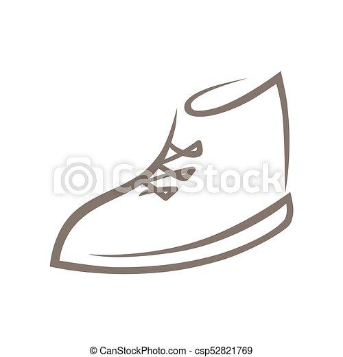 0d8e63ff Blanco, símbolo, zapato, icono. Utilizado, resumen, símbolo, zapato ...