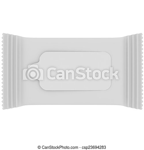 Paquete blanco para servilletas - csp23694283