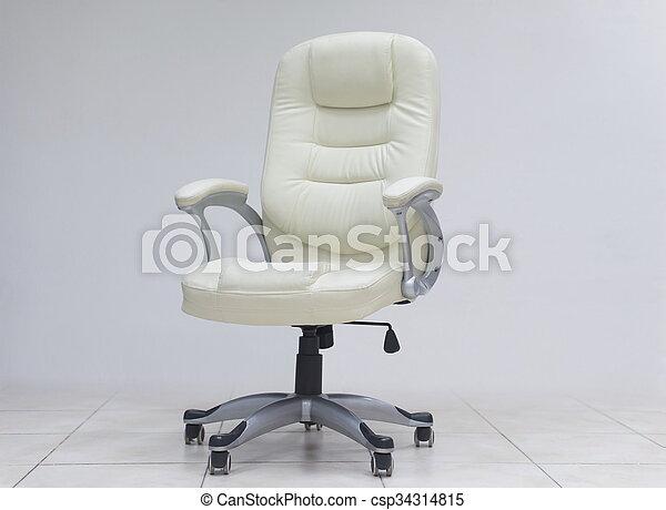 Una silla de oficina blanca. Muebles de sillas de oficina ...