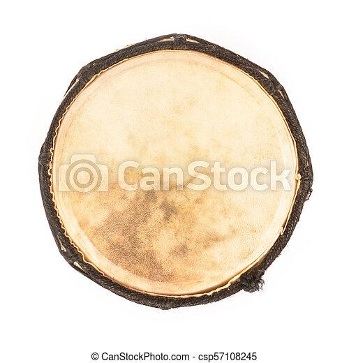 Tambor africano aislado en fondo blanco - csp57108245
