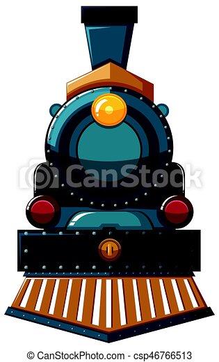 Diseño de trenes sobre fondo blanco - csp46766513
