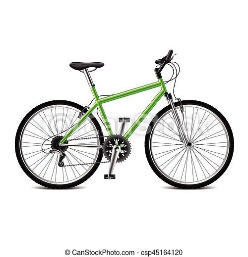 Bicicleta Geen aislada en vector blanco - csp45164120
