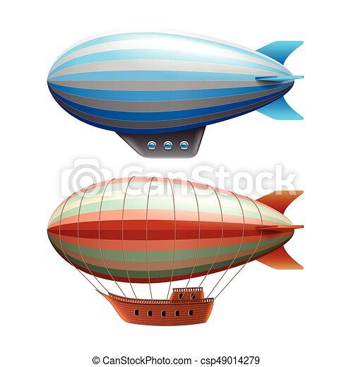Nave aérea aislada en vector blanco - csp49014279