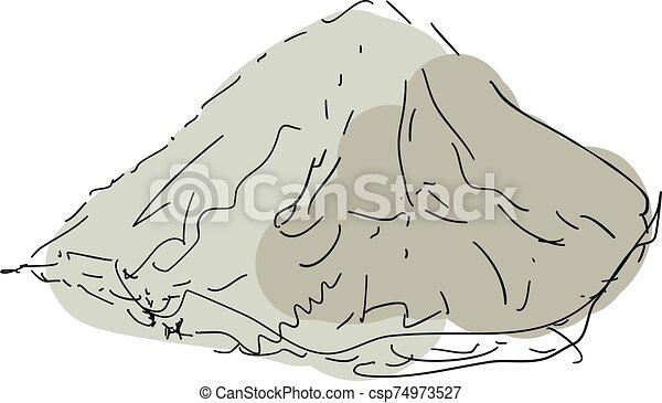 blanco, vector, ilustración, fondo., coloreado, harina - csp74973527