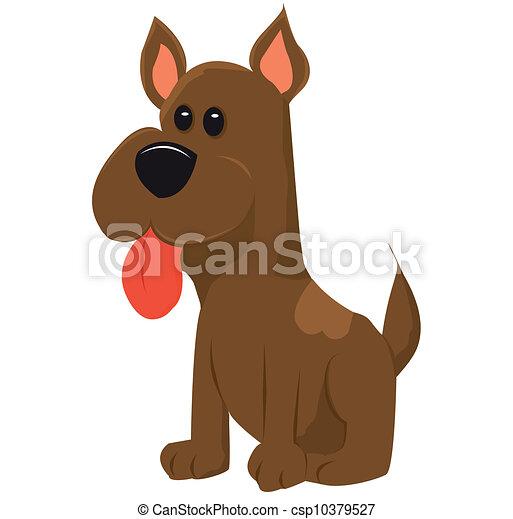Vector de perro aislado en blanco - csp10379527