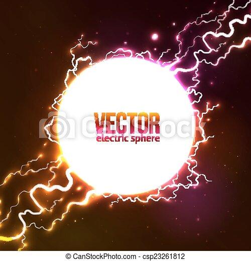 Vector blanco bola de plasma - csp23261812