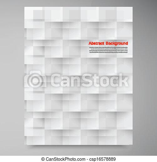 Vector cuadrados blancos. Retirada abstracta - csp16578889