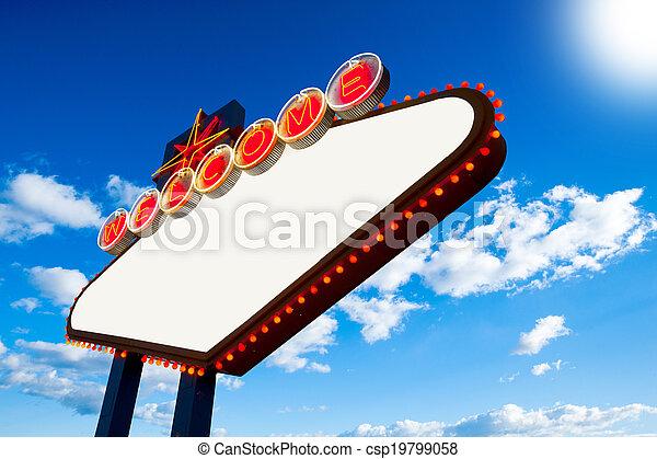 Bienvenidos a Las Vegas - csp19799058