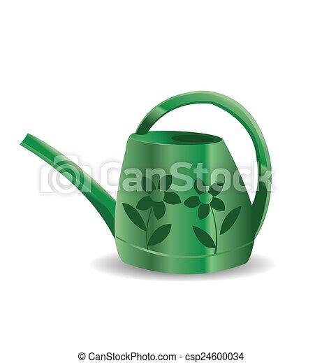 Aspersor verde en un fondo blanco - csp24600034