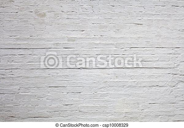 Vieja textura de ladrillo blanco - csp10008329