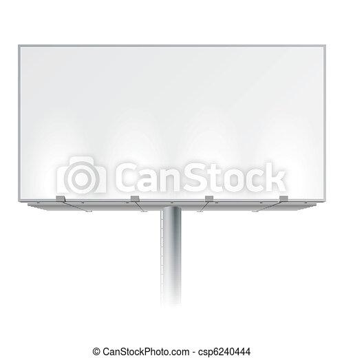 Blank advertising billboard - csp6240444