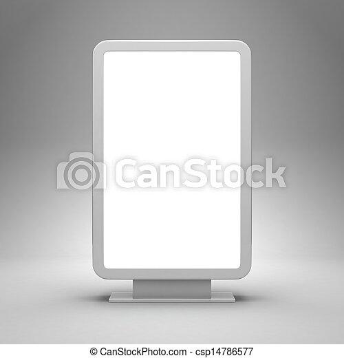 Blank advertising billboard - csp14786577