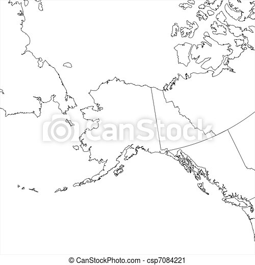 Blank Alaska Map.Blank Alaska Map Blank Alaskan Regional Map In Orthographic Projection