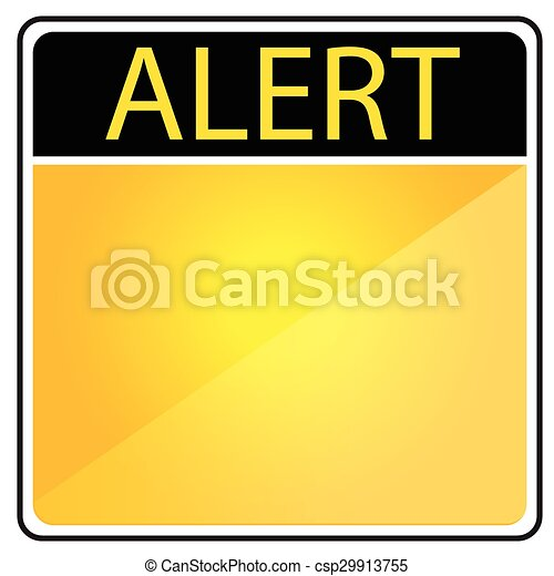 Blank Alert Sign  - csp29913755