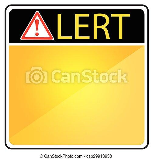 Blank Alert Sign - csp29913958