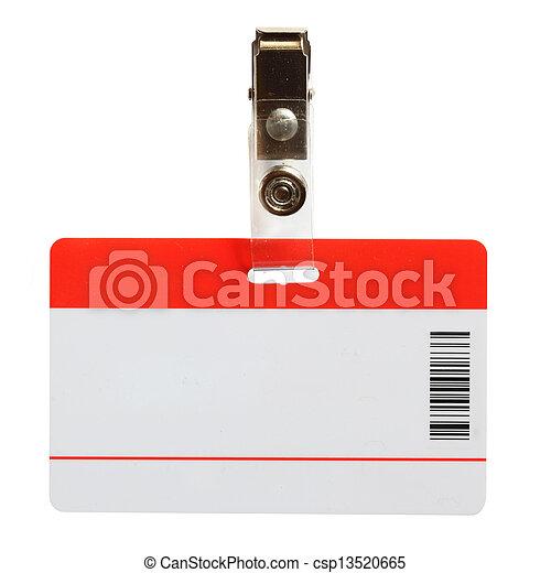 Blank badge - csp13520665