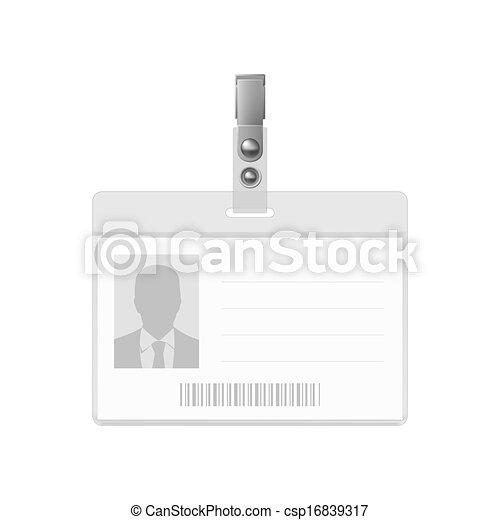 Blank badge. - csp16839317