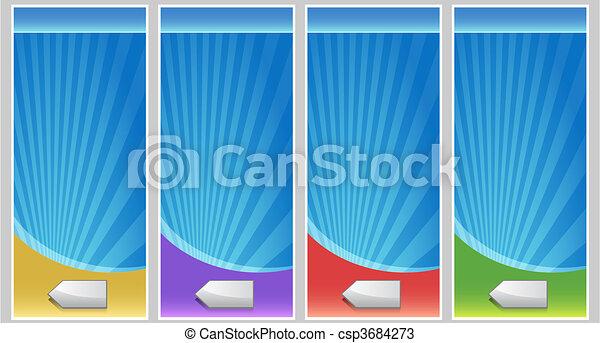 Blank Banner Set - csp3684273