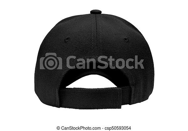 1d0da972854 Blank baseball cap closeup of back view. Blank baseball cap color ...