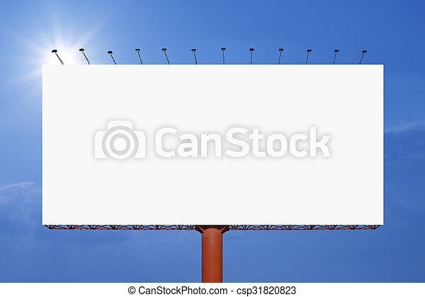 Blank Billboard For Advertisement On Sky Background