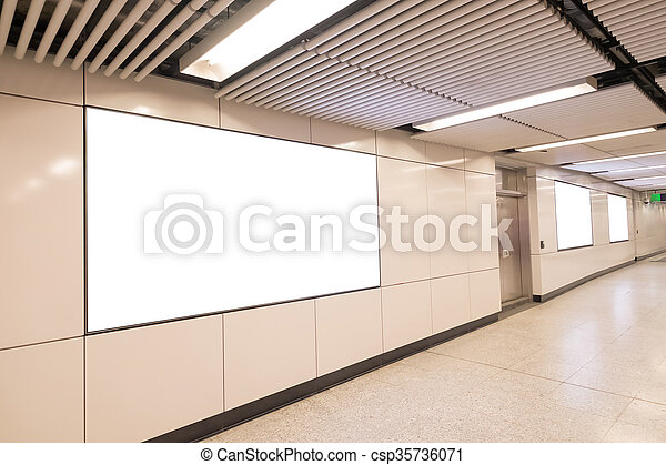 Blank billboard in the city - csp35736071