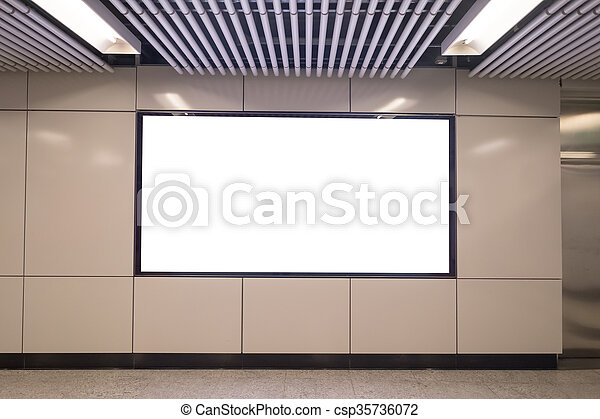 Blank billboard in the city - csp35736072