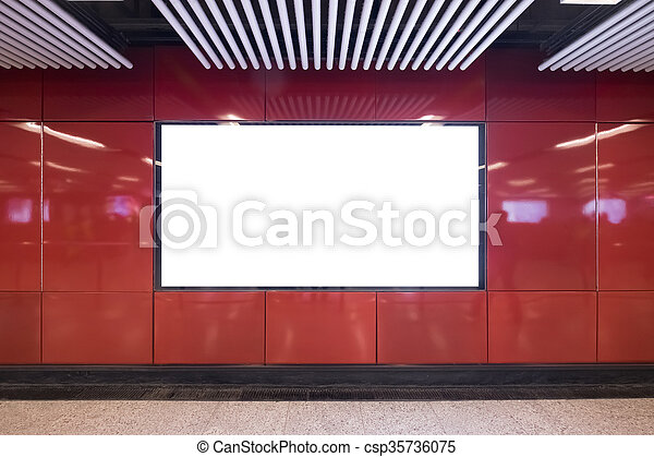 Blank billboard in the city - csp35736075